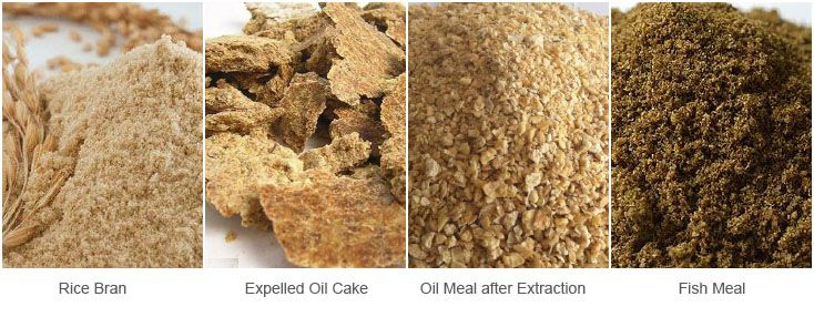 animal feed formula - rice bran, expelled oil cake, oil meal, fishmeal