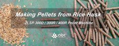 Rice Husk Pellets Making Test Using Flat Die Pellet Machine