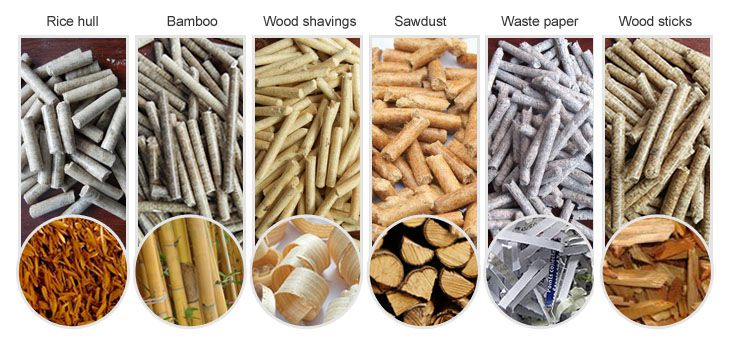biomass materials for pelleting plant