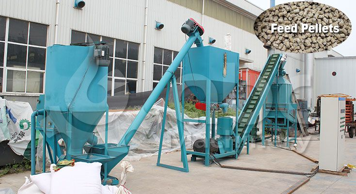 broiler chicken feed machine for small production line