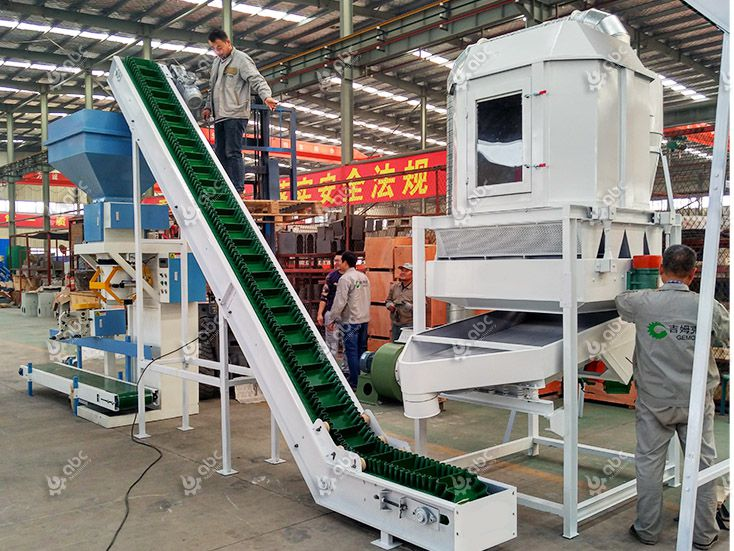 cooling machine of the cattle feed pellets manufacturing plant