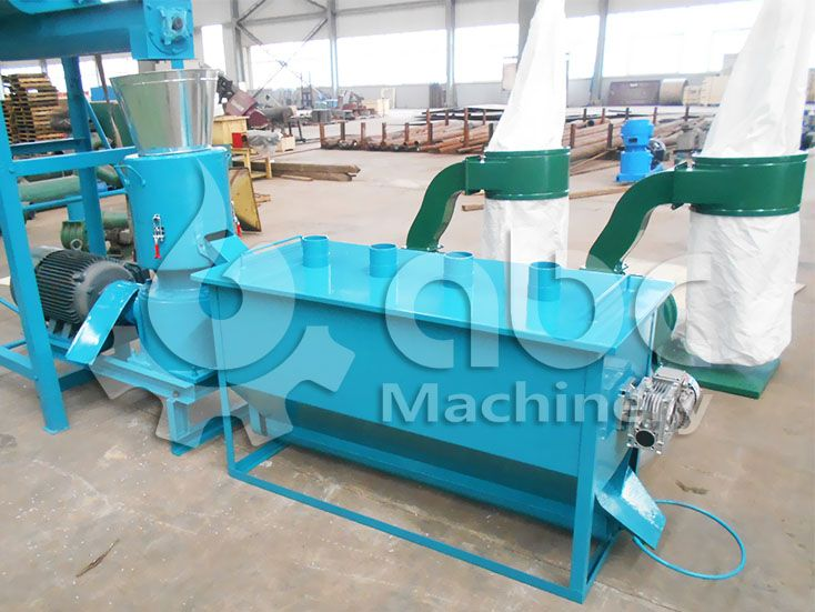 flat die cattle feed processing machine for making animal feed pellets