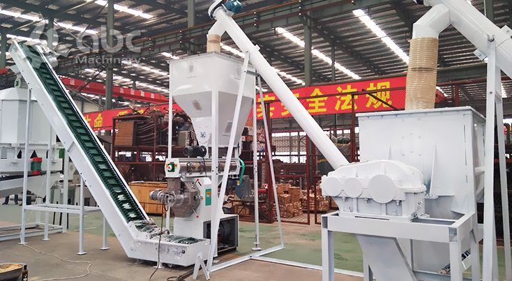 cattle and poultry feed mill plant equipment for small fodder processing factory