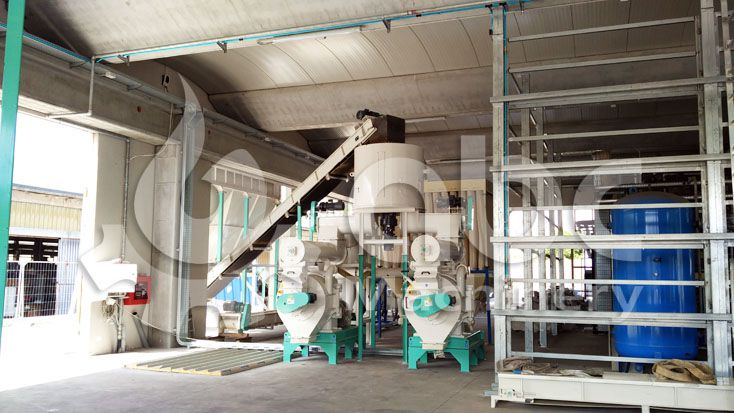 chestnut wood pelleting plant established in Italy