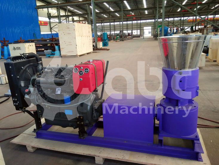 diesel wood pellet mill for processing hard wood materials