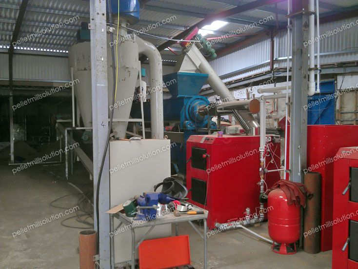 drying machine included in the pelletizing factory