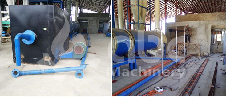 drying process of the grass pelletizer project