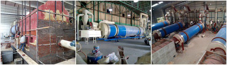 drying unit of wood pellet line