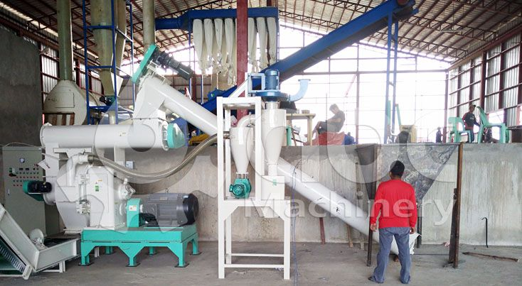 elephant grass pelletizer machine for industrial pellets manufacturing factory