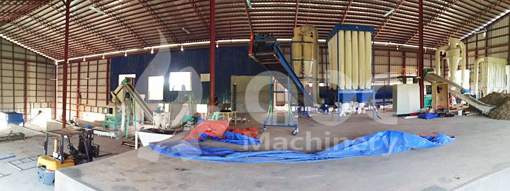 complete biomass pelletizer plant for elephant grass processing
