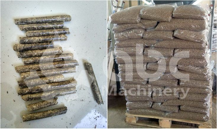 finished elephant grass pellets produced by gemco pellet plant