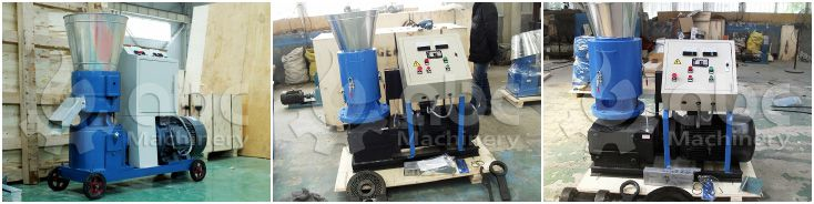 flat die rice husk pellet making machine for small production