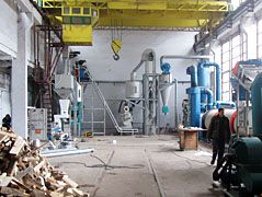 1TPH Complete Wood Pellet Production Line in Bulgaria