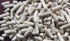 make feed pellets from grain such as maize