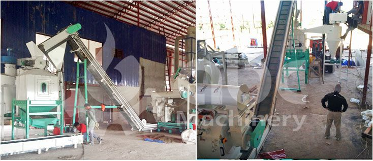 hay  grass pelletizing and cooling process plant
