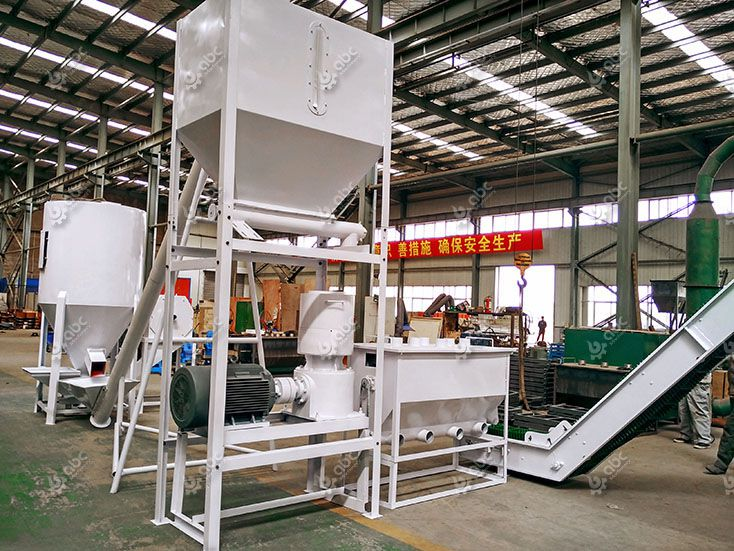feed processing equipment included in the pellet line