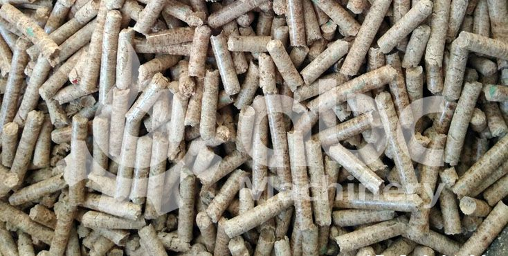 produced oak wood pellets by use of wood pellets mill