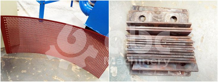 rice husk crushing  machine spare parts - Screen Sieve and Grinding Hammer