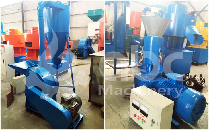 rice husk pelletizing machine for small scale production line