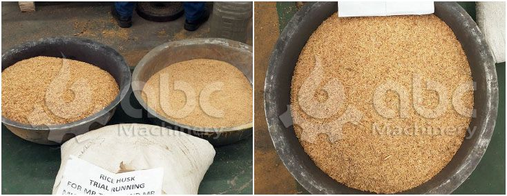 rice husks for making pellets with small granulation machine