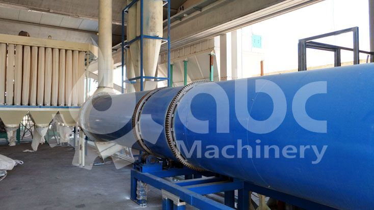 sawdust-drying-machine in pellet extruding factory