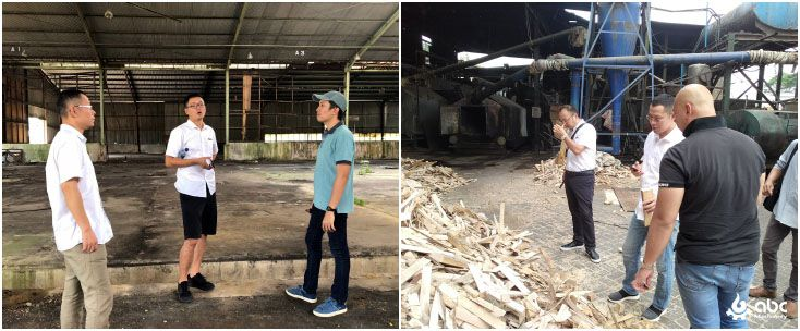 Indonesia wood pellet manufacturing factory visit