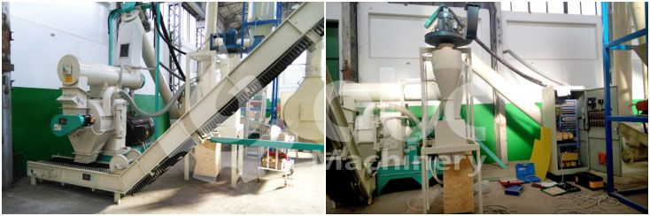 wood pellet production equipment for large fuel pellets manufacturing factory