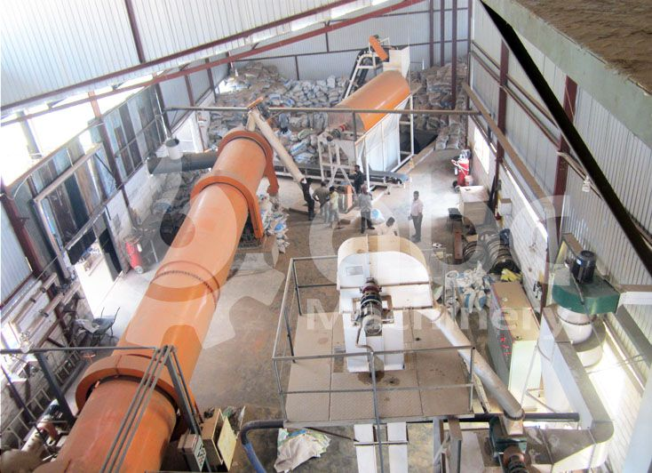 wood pellet production factory top view