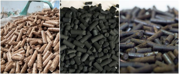 wood pellets, charcoal pellets and torrefied wood pellets