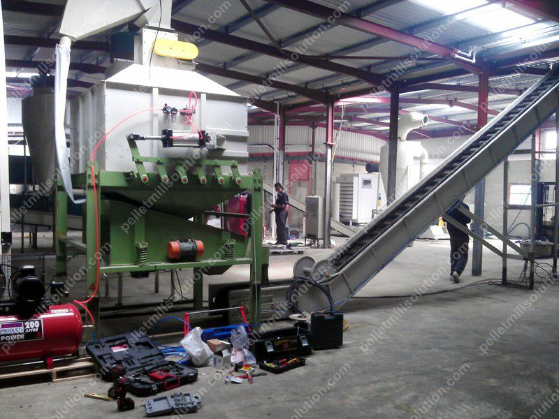 wood pelleting