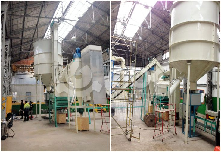 wood pellets pelletizing and cooling equipment of the complete plant